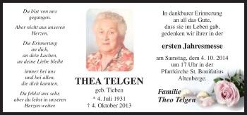 Zur Gedenkseite von Thea