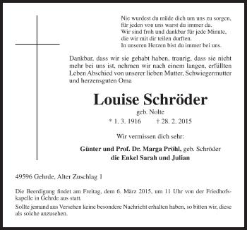 Zur Gedenkseite von Louise