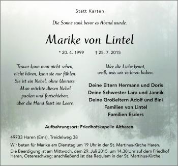Zur Gedenkseite von Marike