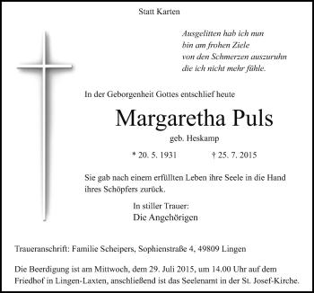 Zur Gedenkseite von Margaretha