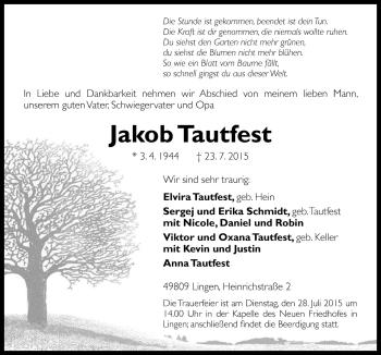 Zur Gedenkseite von Jakob